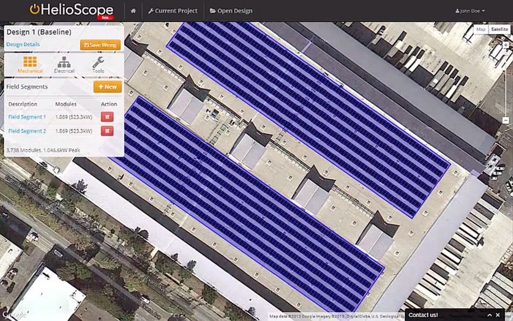 Screenshot of Folsom Labs' CAD product